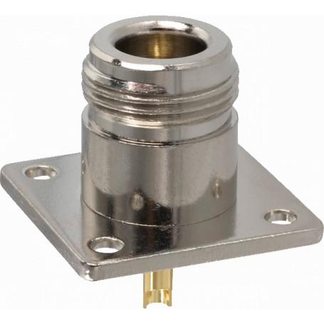 Coaxial N F BNC RCA UHF  NHC4 NHC4 Conector N-Hembra Soldable Panel Chasis