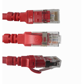 LINKMADE 4un 0,5mt Cat6a U/FTP Rojo LSZH Cable Patch Iny Multif 4x50cm