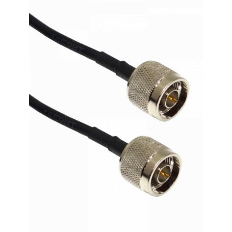 Cable coax armado Generico CA-NMNMA020 CA-NMNMA020 6mt N-Macho N-Macho LMR195 20-Pies Cable Coaxial Negro