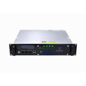 EDFA 2U 8x19dBm 9-SC/APC 8-SC/PC SNMP RS232 1540-1565nm Amplificador