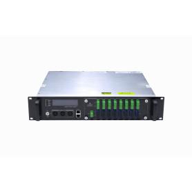 EDFA 2U 16x19dBm 17-SC/APC 16-SC SNMP RS232 1540-1565nm Amplificador