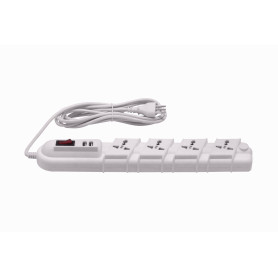 RITTIG Blanco 5-Mult 2-USB5V Alarg 3mts 10A-250V 2200W Piloto-Interrup