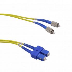 25mt SC-FC MonoModo SM Duplex Jumper Cable Fibra 9/125um 3.0mm