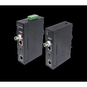 PLANET Kit Extensor 600mt-UTP/BNC 1000mbps req-Fuente 48-56VDC PoE-60W