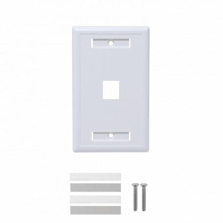 p/Keystone Linkmade FP1W FP1W BLANCO c/Etiquetas 1-Keystone Vertical Faceplate 70x114mm
