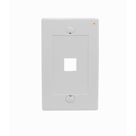 p/Keystone Linkmade FP1WL FP1WL Blanco 1-Keystone Vertical Faceplate 70x114mm