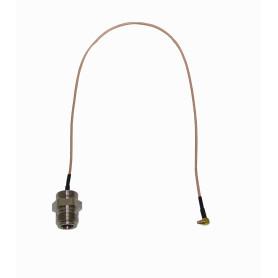 OEMMMCX - MIKROTIK 32cm. Pigtail Cable MMCX-Macho N-Hembra no-sirve-CA411/433
