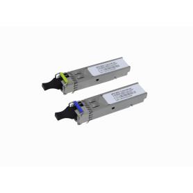 MIKROTIK 1-LC 20km Pareja SFP WDM Bidireccional 1550nm/1310nm 1.25Gbps