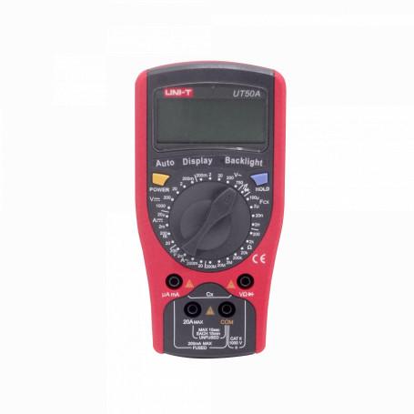 Tester Uni-T MULTIMETER-50 MULTIMETER-50 UNI-50 Multitester Digital inc-Bateria9V 1000VDC 750VAC