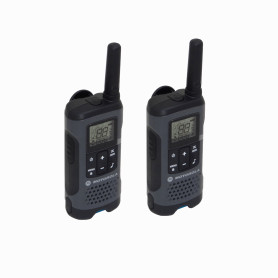 T200CL MOTOROLA 2-Radios 22-Canales 28km inc/2x3-AA/Ni-MH GMRS/FRS 465MHz