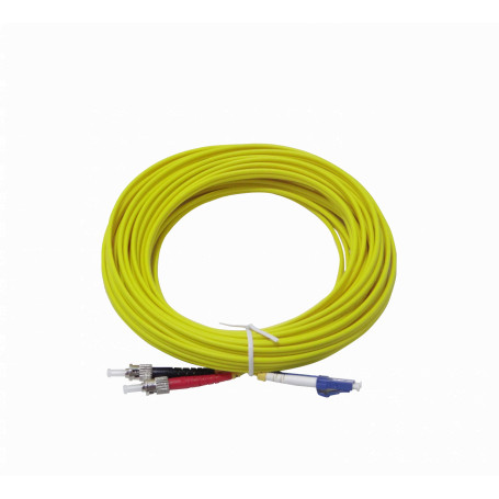 Monomodo 8-15mt Fibra JFSLT10 JFSLT10 LSZH 10mt LC-ST MonoModo SM Duplex Jumper Cable Fibra 3.0mm 9/125um