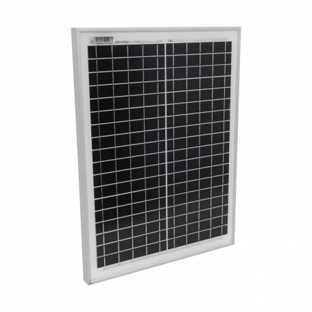 UPS / Panel Solar Generico MONO-20W MONO-20W 20W 18,2Vmp Monocristalino Panel Fotovoltaico 36-Celdas 485x360x25mm