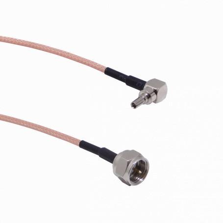 Cable coax armado Generico 9M1FM-15CM 9M1FM-15CM CRC9-M-90º a F-Macho RG316 Cable Coaxial 15cm