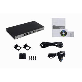 DES-3200-28 - D-LINK 24-100 2-SFP-Combo 2-SFP Console-RS232 Switch Admin Rack 28p