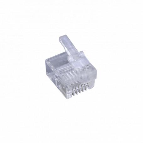 Rj9 Rj11 Rj12 Generico RJ12DEC-10U RJ12DEC-10U 10-unidades RJ12 MMJ DEC 6P6C Macho Conector Crimpeable