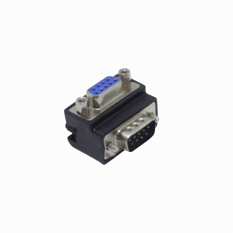 VGA DVI DB15 DB9 Generico DB9-LU DB9-LU Conector Angular Serial Macho-Hembra DB9 sin-Cable DE-09/HM Vertical-A