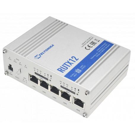 Internet 4G Teltonika RUTX12 RUTX12 Router doble modem LTE cat6 bonding balanceo de carga failover