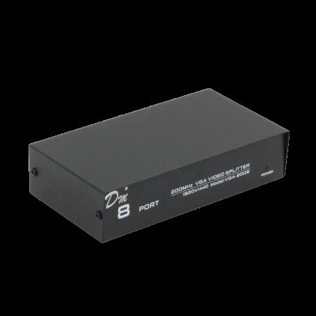 VGA-2008 Video Splitter 8-VGA-H 1-VGA-M 1920x1440 200MHz inc-5V/1A