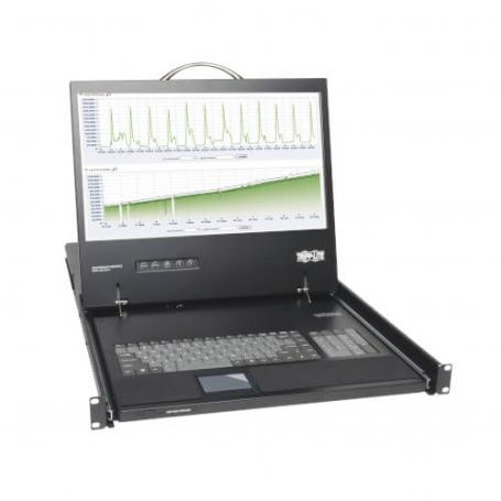 TRIPPLITE Consola Monitor LCD 17P 1366x768 VGA Teclado TouchPad Rack1U