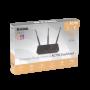 D-LINK AC750 5GHz-433mbps 2,4GHz-300mbps 3-Ant-Fija 4-100 1-WAN inc12V