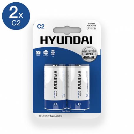 HYUNDAI 2-Pilas-C Blister Alkalinas LR14 1,5V 1.5V
