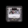 RST-PS 1-RJ45-H 1-Schuko-H Caja Piso Abatible Metal 10x10cm Tapa-12x12cm