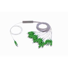 SPLITTER-16A -1x16 SC/APC Divisor PLC p/GEPON/GPON G657A1 0,9mm 1260-1650nm