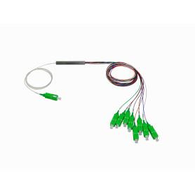 SPLITTER-08A -1x8 SC/APC Divisor PLC p/GEPON/GPON G657A1 0,9mm 1260-1650nm