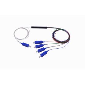 SPLITTER-04C -1x4 SC Divisor PLC p/GEPON/GPON 200cm G657A1 0,9mm 1260-1650nm