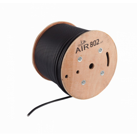Cable coax metro/caja Generico CA600 CA600 -AIR802 equiv-LMR600 15mm Cable Coaxial Negro por Metro PE Shield Foil