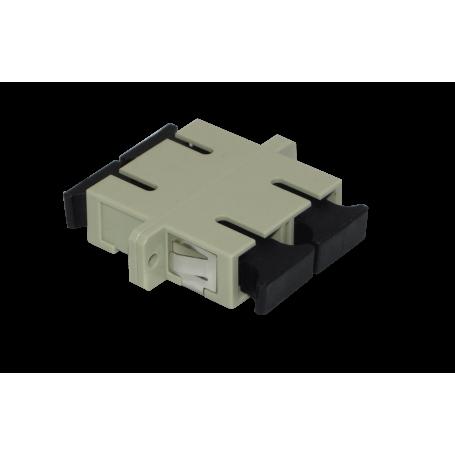 Adaptador copla miniplaca Fibra FAMCD FAMCD -SC-SC Beige MM DX-Duplex Copla p/Fibra Adaptador p/Cabecera-CL/Caja