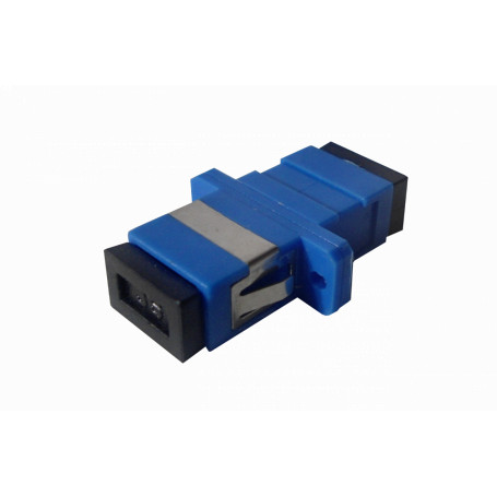 Adaptador copla miniplaca Fibra FASC FASC -SC-SC Azul SM SX-Simplex Copla p/Fibra Adaptador p/Cabecera-CL/Caja