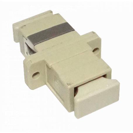 Adaptador copla miniplaca Fibra FAMC FAMC -SC-SC Beige MM SX-Simplex Copla Adaptador p/Cabecera-CL/Caja
