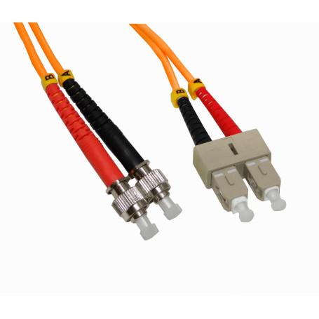 OM1 multimodo Fibra JFMTC3 JFMTC3 -3mt ST-SC OM1 MultiModo MM Duplex Jumper Fibra 62.5/125um