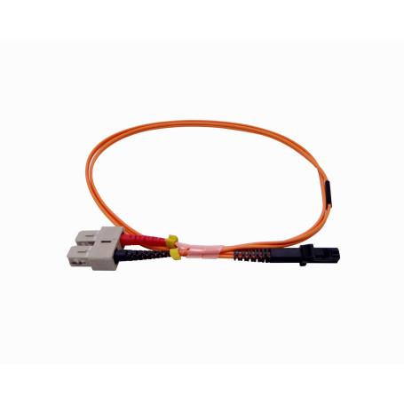 OM1 multimodo Fibra JFMJC1 JFMJC1 -1mt MTRJ-SC OM1 Multimodo MM Duplex Jumper Fibra 2.0mm 62.5/125um