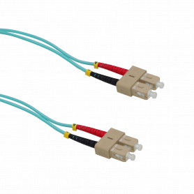 JF3CC1 -1mt SC-SC OM3 Multimodo MM Duplex Jumper Fibra 3.0mm 50/125um