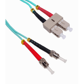 JF3TC3 -3mt ST-SC OM3 Multimodo MM Duplex Jumper Fibra 50/125um