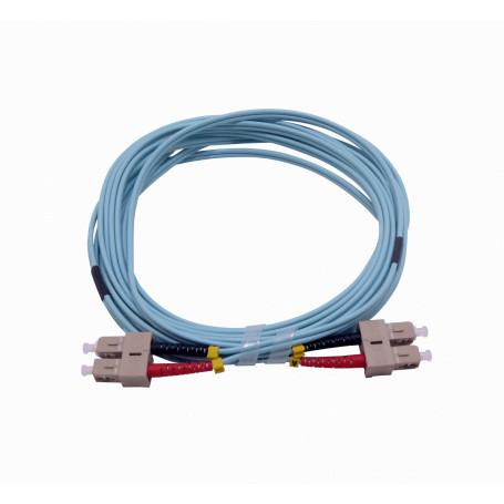 OM3 multimodo Fibra JF3CC5 JF3CC5 -5mt SC-SC OM3 MultiModo MM Duplex Jumper Fibra 3.0mm 50/125um