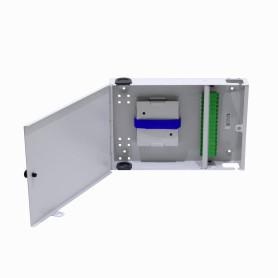 CFM-16A -inc-16-SC/APC Caja Gris Cabecera Mural 300x205mm sin-Llave opcion-LC