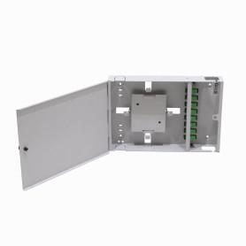 CFM-8A -inc-8-SC/APC Caja Gris Cabecera Mural 300x205mm sin-Llave opcion-16-LC