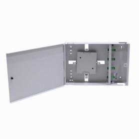 CFM-4A -inc-4-SC/APC Caja Gris Cabecera Mural 300x205mm sin-Llave opcion-8-LC