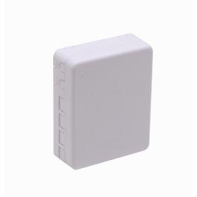 BOX-4DIN -Riel-Din inc-4-Mang 4-CL-Rectang IP20 Caja Blanca para Fibra NAP