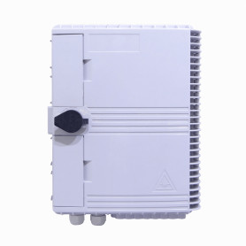 BOX-16 -Blanca 16-CL-Rectang 2-Estopa IP65 c/Llave Caja Fibra NAP inc-16xFASCA