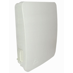 BOX-12C -12-Manguito 8-CL-Rectangular IP65 Caja Blanca Terminacion Fibra NAP