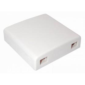 BOX-2C-02 -2-Manguito 2-CL-Recta IP20 Caja Blanca Terminacion Fibra NAP