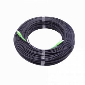 JPSA-100 -Negro Drop-Port 100mt SC/APC MonoModo SM SX Pigtail Cable Fibra G652D