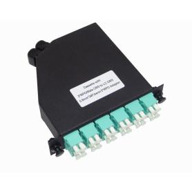 CALCOM3 -OM3 24-LC 2-MPO Cassette para/1U-3P 130mm Fibra Pre-conectorizada