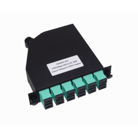 CASCOM3 -OM3 12-SC 1-MPO Cassette para/1U-3P 130mm Fibra Pre-Conectorizada