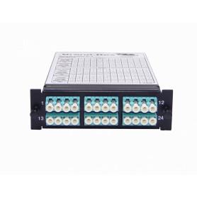 SCALPTMLCOM4242 -BRANDREX 24-LC 2-MTP Alpha-RevB OM4 Cassette MM Polaridad-B Modulo