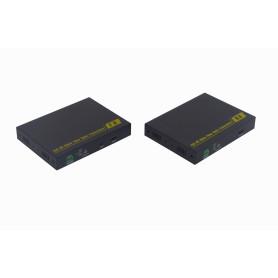 HDMI-FIBRA -Kit TX/RX HDMI/Audio-3,5mm/RS232-3pin WDM-SM-LC Fibra 10km